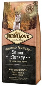CARNILOVE GF Salmon Turkey Large Breed Puppy 1,5kg
