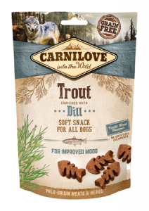 CARNILOVE Snack Dog Soft Trout Dill 200g