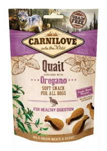 CARNILOVE Snack Dog Soft Quail Oregano 200g