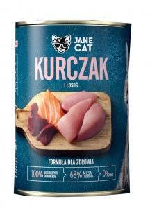 Jane Cat Adult Kurczak Łosoś 400g
