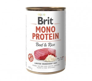 BRIT Mono Protein Beef and Rice 6x400g