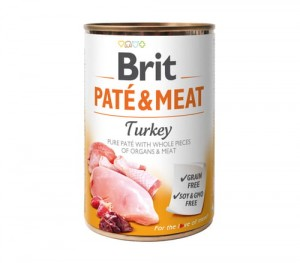 BRIT Pate & Meat Turkey Indyk 6x800g
