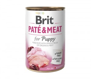 BRIT Pate & Meat Chicken/Turkey Puppy 6x800g