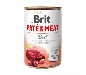BRIT Pate & Meat Beef Wołowina 6x800g