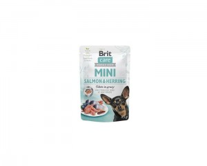 Brit Care Mini Pouch Salmon Herring Sterilised 85g