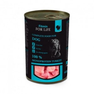 Fitmin For Life Dog Monoprotein Turkey 3x400g