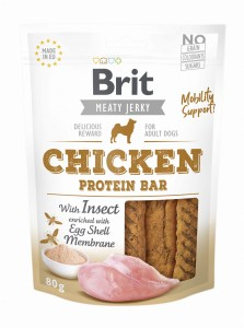 Brit Jerky Snack Protein Bar Chicken Insect 80g