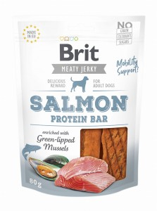 Brit Jerky Snack Protein Bar Salmon 80g