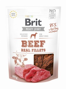 Brit Jerky Snack Real Fillets Beef 80g