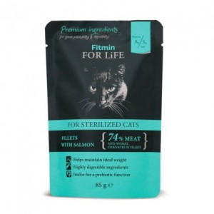 Fitmin cat For Life Sterilized Salmon 6x85g
