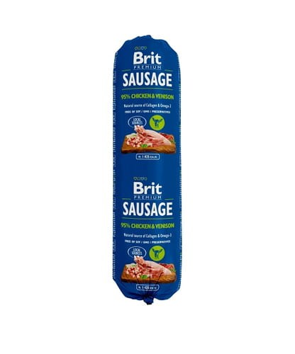 BRIT Sausage Chicken & Vension Kiełbasa 800g
